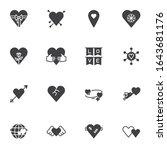 valentine day vector icons set  ...