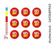 set bundle tag discount sale of ... | Shutterstock .eps vector #1643689963