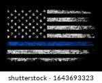 usa police grunge vector design | Shutterstock .eps vector #1643693323
