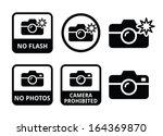 no photos  no cameras  no flash ... | Shutterstock .eps vector #164369870