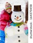 Winter Fun  Happy Kid Playing...