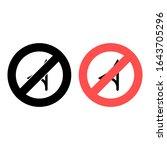 no turn icon. simple glyph ...
