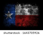 Texas Flag Grunge Vector Design