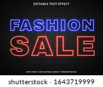 fashion sale text effect... | Shutterstock .eps vector #1643719999