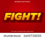 fight text effect template with ... | Shutterstock .eps vector #1643720020