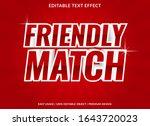 friendly match text effect... | Shutterstock .eps vector #1643720023