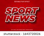 sport news text effect template ... | Shutterstock .eps vector #1643720026