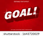 goal text effect template with... | Shutterstock .eps vector #1643720029