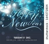 stylish text happy new year on... | Shutterstock .eps vector #164372804