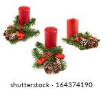 Candle And Fir Tree Branch...