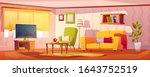 spring interior of living room... | Shutterstock .eps vector #1643752519