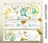website design template... | Shutterstock .eps vector #164375684