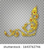 royal golden vintage ornament... | Shutterstock .eps vector #1643762746