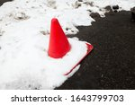 Traffic Cone In The Snow On The ...