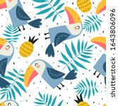 Summer Seamless Pattern With...