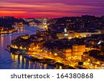 hill with old town of porto at...   Shutterstock . vector #164380868