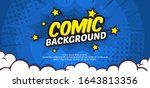 pop art comic background with... | Shutterstock .eps vector #1643813356