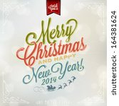 i wish you a merry christmas... | Shutterstock .eps vector #164381624