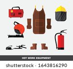 set of hot work equipment. fire ... | Shutterstock .eps vector #1643816290
