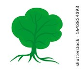 digital tree design  unique... | Shutterstock .eps vector #1643824393