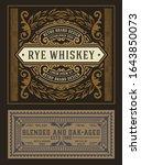 vintage whiskey label for...   Shutterstock .eps vector #1643850073