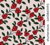 diagonal lingonberry twigs...   Shutterstock .eps vector #1643865493