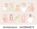 set of thinking people concept. ... | Shutterstock .eps vector #1643866873