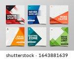 sport square banner template.... | Shutterstock .eps vector #1643881639