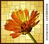 vector angular mosaic with... | Shutterstock .eps vector #1643884036