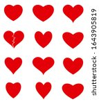 heart collection. set of red... | Shutterstock .eps vector #1643905819