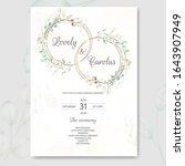 wedding invitation card set...   Shutterstock .eps vector #1643907949