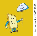 mobile phone with cloud balloon | Shutterstock .eps vector #164391260