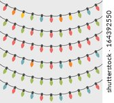 Set Of 6 Christmas String Lights