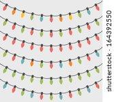 Set Of 6 Christmas String Lights