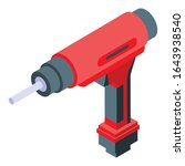 electric drilling machine icon. ... | Shutterstock .eps vector #1643938540