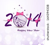 happy new year 2014 celebration ... | Shutterstock .eps vector #164394338