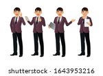 elegant businessman with...   Shutterstock .eps vector #1643953216
