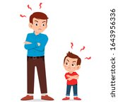 little kid boy get angry with... | Shutterstock .eps vector #1643956336