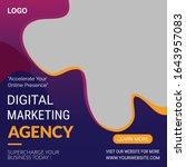 digital marketing agency social ... | Shutterstock .eps vector #1643957083