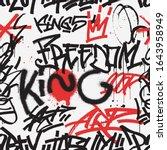 graffiti seamless pattern in...   Shutterstock .eps vector #1643958949