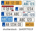 car license plate. eu countries ... | Shutterstock .eps vector #1643979319