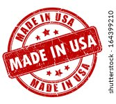 made in usa stamp | Shutterstock .eps vector #164399210