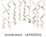 gold serpentine isolated on... | Shutterstock . vector #164403926