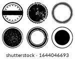circle grunge scratched lable... | Shutterstock .eps vector #1644046693