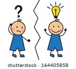 cartoon man with a question... | Shutterstock .eps vector #164405858