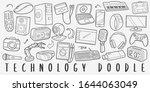 Technology Doodle Line Art...