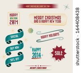 set of christmas vector banners ... | Shutterstock .eps vector #164408438