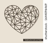 heart with a geometric pattern. ... | Shutterstock .eps vector #1644096469