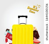travel bag in yellow color and...   Shutterstock .eps vector #1644100156