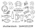 beer and snacks. pub shop icons.... | Shutterstock .eps vector #1644101239